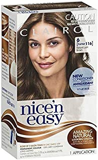 Clairol Nice 'N Easy, 6 Natural Light Brown, 1 Application