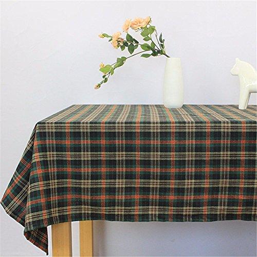 WanJiaMen'Shop La Grille de Table Nappe rectangulaire Noir Capot résistant,138 * 180cm carré