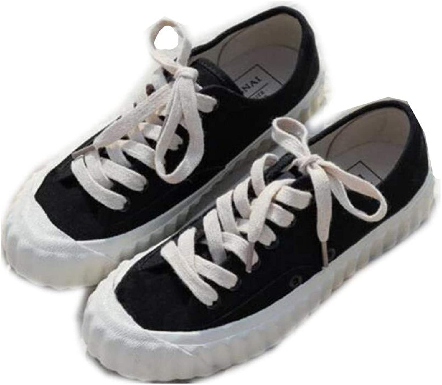 Women's Canvas shoes Sneakers Low Cut Lace Up Fashion Comfortable Walking Flats