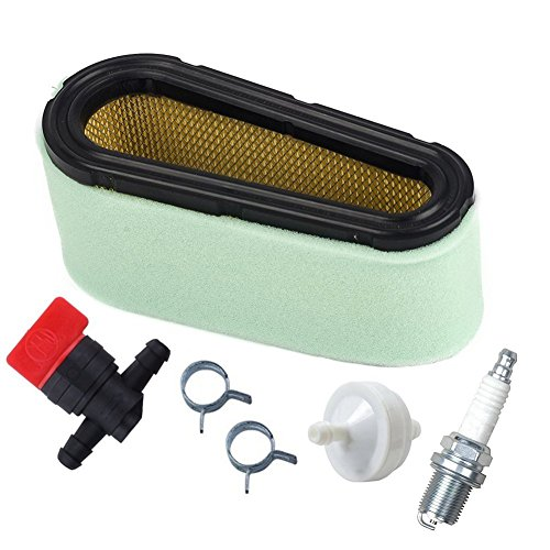 OuyFilters 496894 Air Filter Pre Filter With 394358 Fuel Filter 494768 Fuel Shut Off Valve for 12.5 - 17 HP Single Cylinder Engines