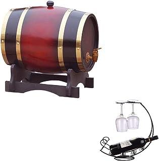 Tonneau à vin en bois 5L Fût de chêne Avec casier à vin Fût de chêne de vin Bonne étanchéité, pour la vinification ou stoc...