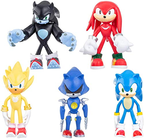 5 Pack Sonic The Hedgehog Action Figures | Sonic...