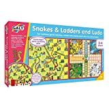 Galt Toys, Snakes & Ladders and Ludo, Classic Board Game, Ages 3 Years Plus, 2-4 Players