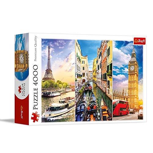 Trefl, Puzzle, Reise durch Europa, 4000 Teile, für Kinder ab 14 Jahren