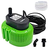 1. Pool Cover Pump above Ground - Submersible Water Sump Pump Swimming Water Removal Pumps, with Drainage Hose & 25 Feet Extra Long Power Cord, 850 GPH inGround, 3 Adapters