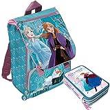 Frozen 2 Schoolpack - Mochila escolar extensible más estuche 3 cremalleras completa de papelería