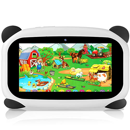 HANYEAL Tablet PC impermeabile 7 pollici per bambini Android 9.0 / Quad Core / WiFi / Bluetooth / 1024x600HD / 2GB RAM + 32GB ROM (Panda)