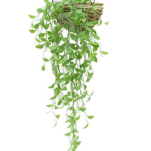 3pcs Artificial Plants Vines Fake Hanging Plant Leaves Greeny Chain Wall Home Room Garden Wedding Garland Outside Decoration