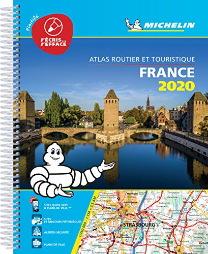 France 2020 -Tourist & Motoring Atlas A4 Laminated Spiral (Michelin Road Atlases)