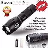 Internet 4000 Lumens G700 Tactical LED CREE XM-L T6 lampe de poche X800 Zoom Super Bright militaire de grade étanche titulaire...