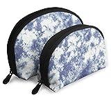 Tie Dye Pattern - Bolsa cosmética para mujer, bolsa de embrague portátil con cremallera grande y una pequeña 2 unidades