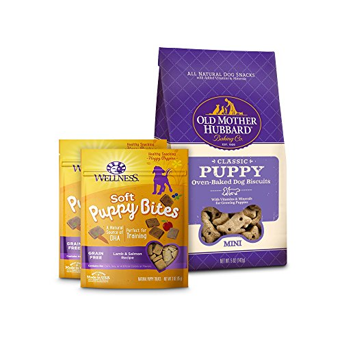 Wellness Soft Puppy Bites With Old Mother Hubbard Classic Puppy Biscuits, Small Bundle