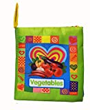 VOGURGLE Baby Soft Cloth Book Infants Fabric Crinkly Books Babies Non-Toxic Fabric Book Early...