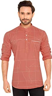 Go Stylish 100% Cotton Printed Kurta Shirt for Men