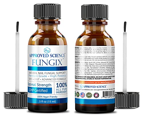 Fungix - Nail Support for Toenails & Fingernails - With Tea Tree Oil, Undecylenic Acid & Other Essential Oils - 2 Vegan Friendly Bottles