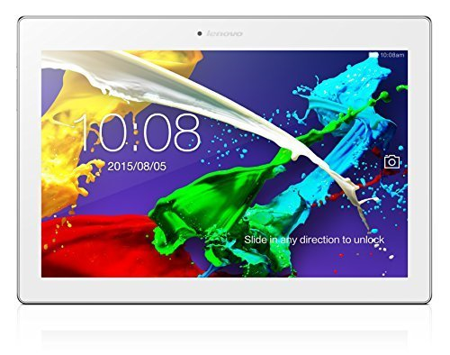 Lenovo A10 Tab 2 10.1-Inch Tablet (MTK 8165 Quad Core 1.5 GHZ Processor, 10.1 1920 x 1200 IPS Screen, 16 GB internal memory, up to 32 GB SD card, 2 GB RAM, 8 MP rear camera, 5 MP Front facing, Android 4.4) - White by Lenovo