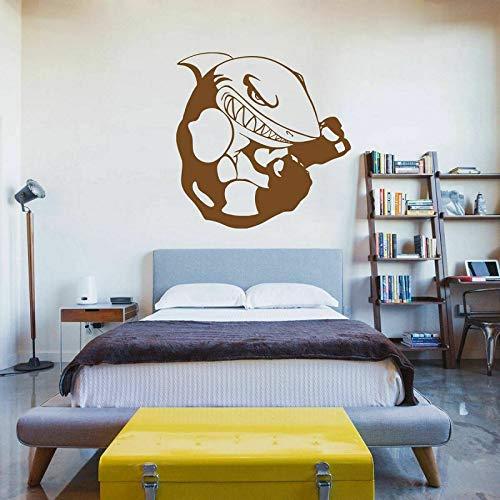 jiushizq Vinyl Wand Applique Aufkleber Kick Boxhandschuhe Wettbewerb Gym Shark Fashion Wandaufkleber, Home Schlafzimmer Dekoration Weiß 42x45 cm
