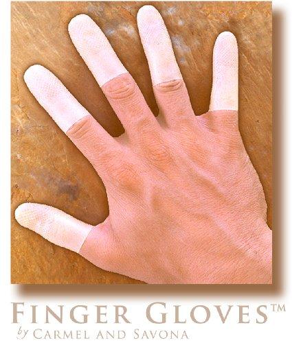 Reusable Rubber Finger Gloves(tm) for Durable and Versatile Finger Only Coverage ~ 12 Duet Mixed Finger Gloves(tm) Packet