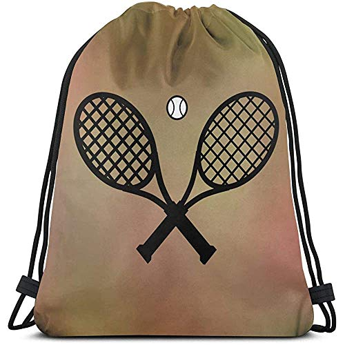 Lmtt Kordelzug Rucksack Tasche, Sport Cinch Sack, Gym Sack Für Frauen Männer, Tennisball