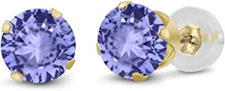 aaa tanzanite stud earrings