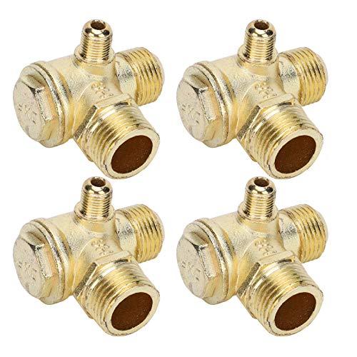 Tomanbery Válvula de retención del compresor de Aire Resistente, fácil de Instalar y Duradera, tamaño pequeño, válvula de retención del compresor de Aire de Doble Cilindro 100% Nueva con aleación de