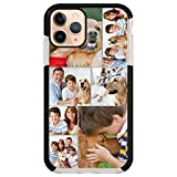 Custom Photo Phone Case for iPhone 11, Multi-Picture collages Customized Shockproof Impact Case STYLETiFY Personalized Protective Anti-Scratch Phone Cover Xmas Valentine Gift Black Template E