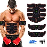 Abs Stimulator Abdominal Muscle, EMS ABS Trainer Body Toning Fitness, USB Rechargeable Toning Belt...