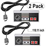 NES Classic Controller with 10FT Cable [2-Pack] for NES Classic Edition Mini,SNES Classic 2017 - Wired Joypad/Gamepad Console