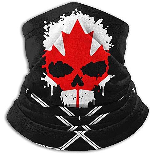 GWrix Canada Hockey Skull Neck Warme bivakmuts skimasker koud weer masker wintermutsen voor mannen vrouwen zwart