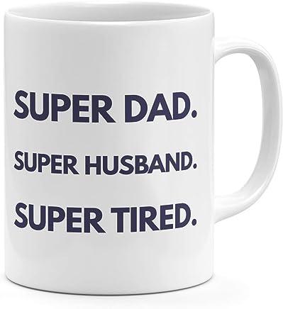Loud Universe Super Dad Super Husband Super Tired Funny Quote Dads Life Mug
