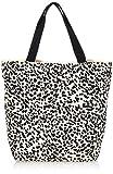 Only ONLGIA Shopper Canvas Bag, Mujer, Color crudo y op: negro, Einheitsgröße