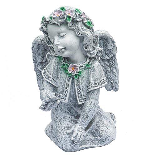 IUYJVR Escultura de ángel de jardín, Estatua de ángel con alas, Escultura de Diosa de ángel de Mariposa Vintage de Patio, decoración Creativa