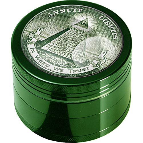 Imagen del producto Black Leaf' Grinder 4-TLG. Diferentes diseños., metal, verde, 50 mm