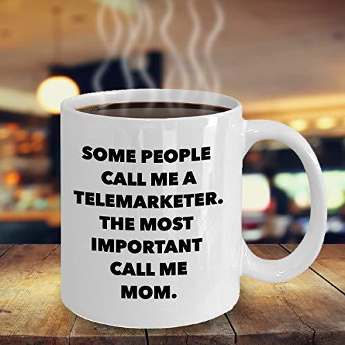 Zabawny telemarketer mama kubek do kawy najlepszy sprzedawca detaliczny mama prezent fajny pomysł na prezent na Dzień Matki na telefon zamówienie sprzedaż telesprzedażowa mama