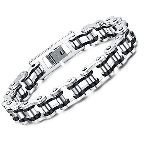 Faysting EU Carattere moto roccia stile bracciale a catena in acciaio personalizzata da uomo