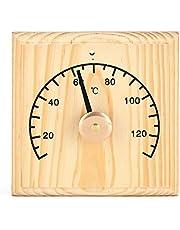 Ymiko Termómetro de Sauna de Madera Accesorio de Sauna