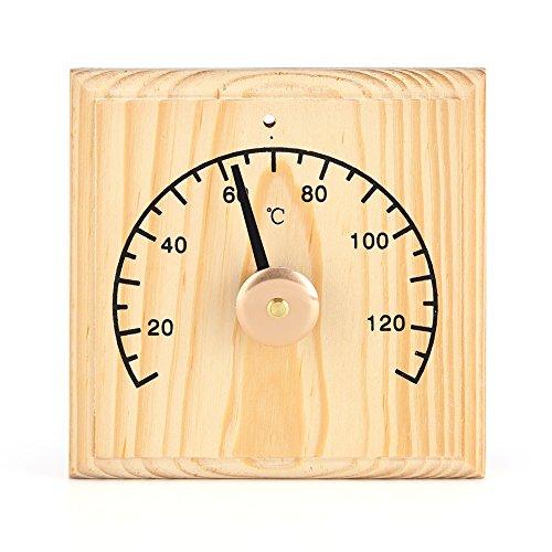 Ymiko Saunazubehör Saunathermometer aus Holz