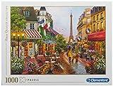 Clementoni- Puzzle 1000 Piezas Flores en Paris, Multicolor (39482.1)