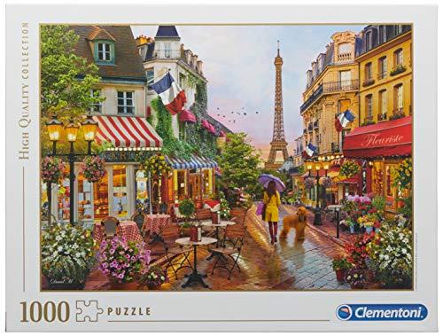 Clementoni- Puzzle 1000 Piezas Flores en Paris, Multicolor (