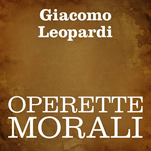 Operette morali audiobook cover art