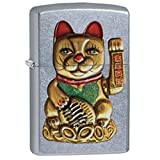 Zippo Unisex Maneki-Neko Lucky Cat Regular Winddic