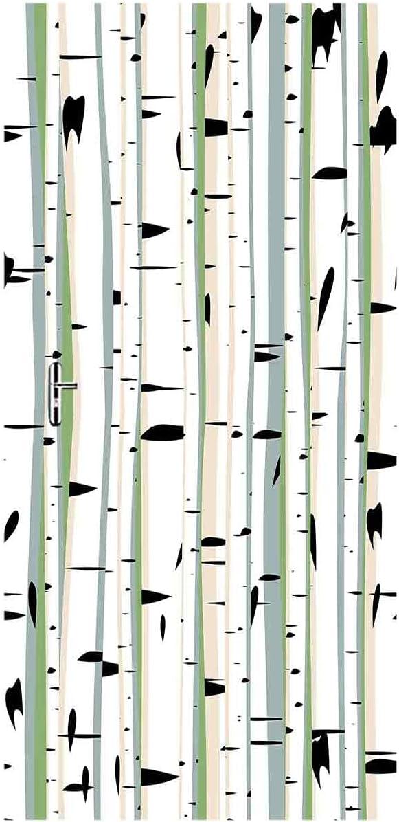 Forest Popular shop is the lowest price challenge Door Mural Wallpaper Stickers Birch Formation Elegant Tree Dense
