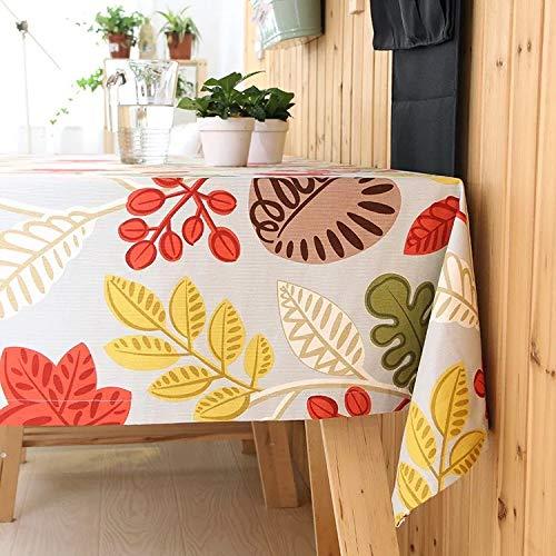 ShiyueNB wind- en zonnebladeren kleuren tafelkleden groene tafelkleden tafelkleden huishoudtafelkleed 90 * 90CM H