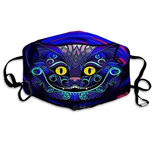 Wiederverwendbarer Gesichts-Mund-Schutz Der Kopf der Cheshire-Katze aus Märchen Alice im Wunderland mit