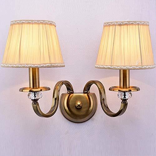Sconce wandlamp licht licht minimalistische kristal muur lamp nachtlampje lamp imitatie koper woonkamer muur lamp trappen Aisle brons beugel licht wandlampen