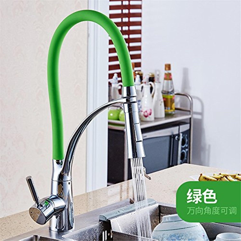 Athraoay Küche Bad Wasserhahn Kaltes und heies Wasser Kupfer rotierende Kaltes und Warmes Wasser grün Badezimmer Waschbecken Waschtischarmatur