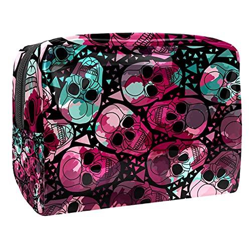 Hueso Circle (L xW xH) 18,5 x 7,5 x 13 cm Bolsas de maquillaje espaciosas bolsa de viaje multifuncional para mujeres, Multi-1, 18.5x7.5x13cm/7.3x3x5.1in,