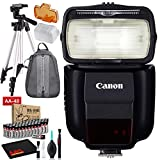 Canon Speedlite 430EX III-RT Includes AA Batteries, Backpack, and 57' Tripod