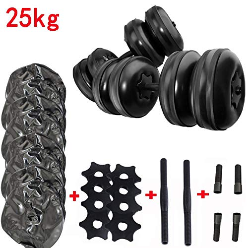 Water Dumbbells Kit,Water Dumbbells Adjustable Weight,20KG-25KG,Training Arm Muscle Fitness Dumbbell Anti-Impact Portable