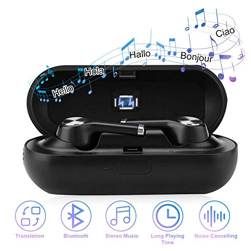 fosa Translator Earbuds with Gift Charging Box,2 in 1 Bluetooth Headphone/Real Time Wireless Language Translator...